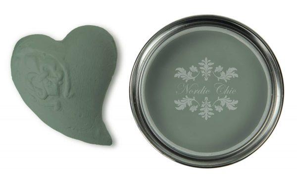 Dusty Green-Kalkmaling fra Fargegladehjem