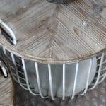 Hvite sofabord med trelokk, sett av 2