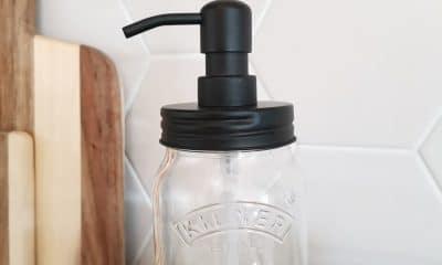 0,5l Kilnerglass Svart Pumpe