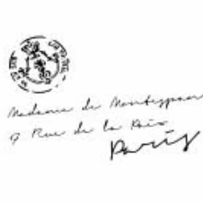 French Address with stamp